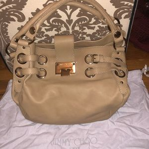 NWT Authentic Jimmy Choo Nude Bag